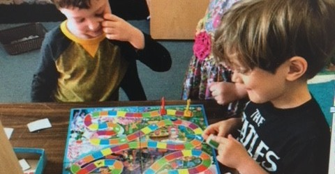 Our T/K class loves playing board games!