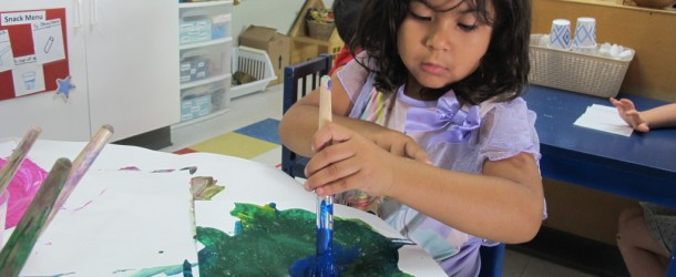 Mixing Paint with Salt in Room 2