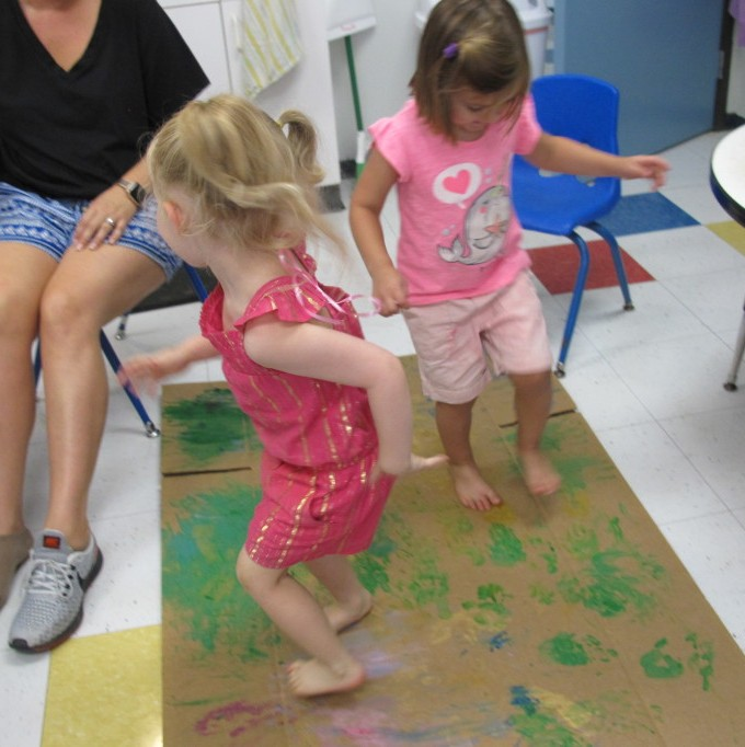 Painting With Our Feet!
